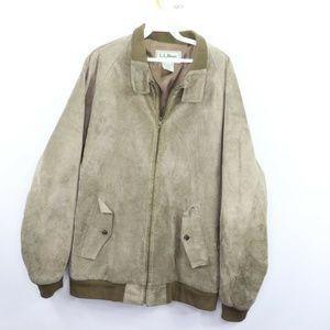 Vintage LL Bean Full Zip Leather Bomber Jacket 44L